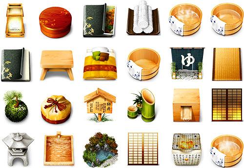 Yoritsuki Japanese Garden Icons