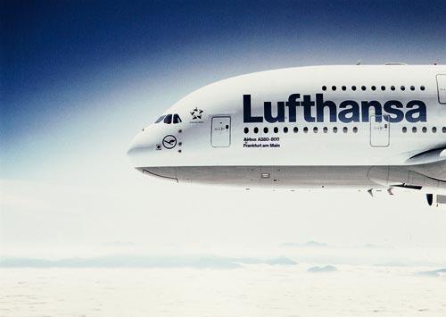 Airbus A380-800 Postcard