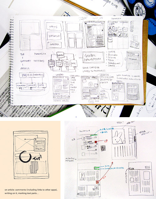 Musabi Information Design Drafts