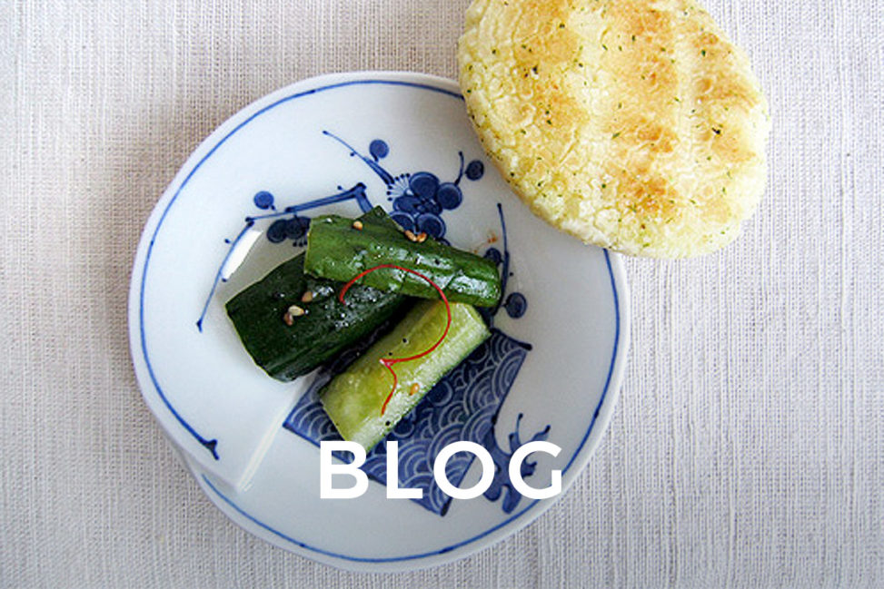 Wasabi Senbei and Curcumber Pickles