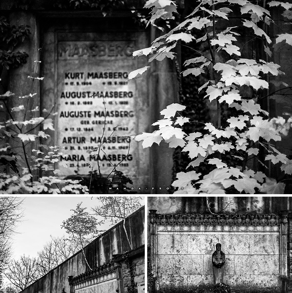 Alte Grabstätten, Friedhof Wilmersdorf, Wilmersdorf, Berlin 2018/11/07 © Wanda Proft